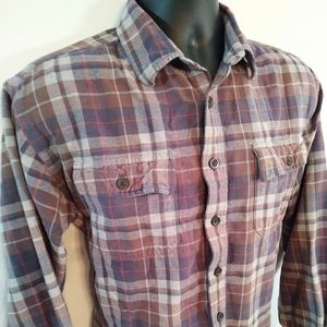 Vtg LL Bean men's L chamois cloth flannel shirt